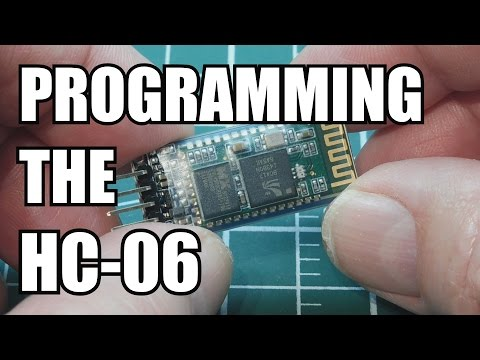 How to program the HC-06 Bluetooth module