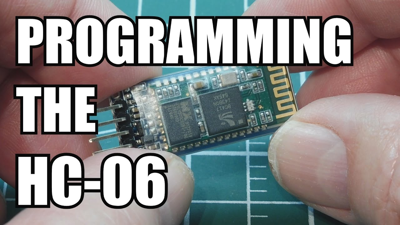 How to program the HC-06 Bluetooth module