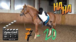 20 попыток, Карл! Учимся залезать на лошадь  Equestrian 05.04.17