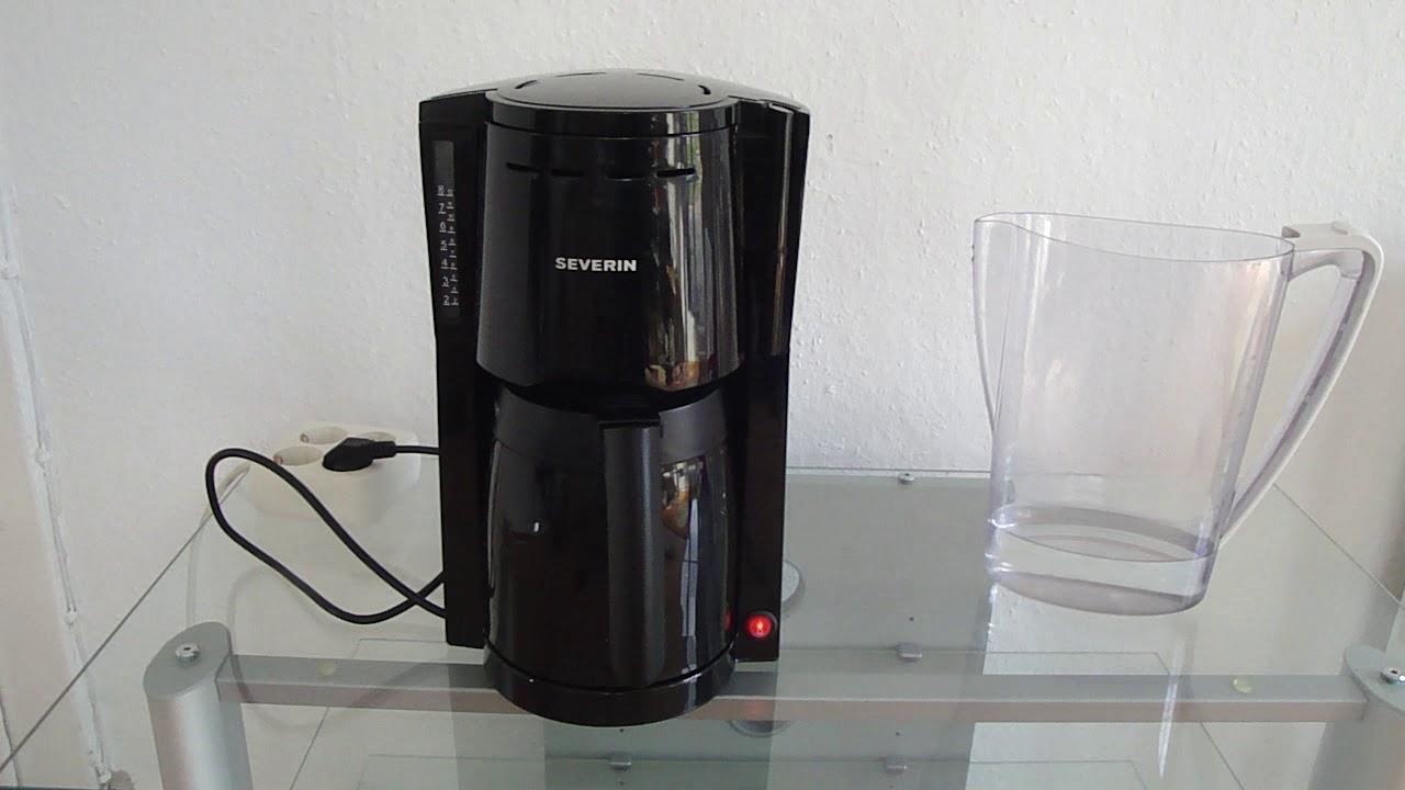 severin kaffeemaschine mit thermoskanne
