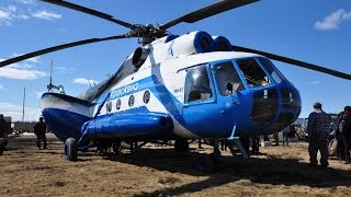 krasavia mil mi 8t hip c scheduled flight from vanavara uniw to strelka chunya siberia russia