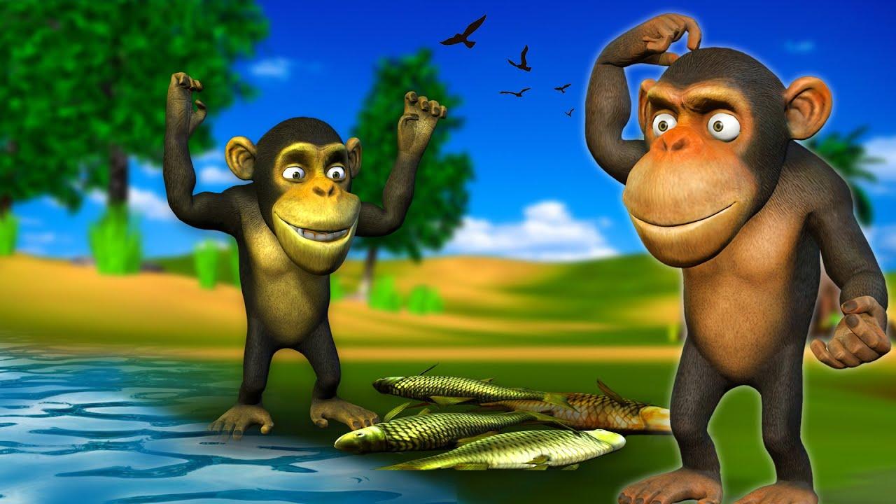 बेवक़ूफ़ बन्दर - Foolish Monkey Hindi Kahaniya - Panchatantra Moral Stories 3D Animated Tales