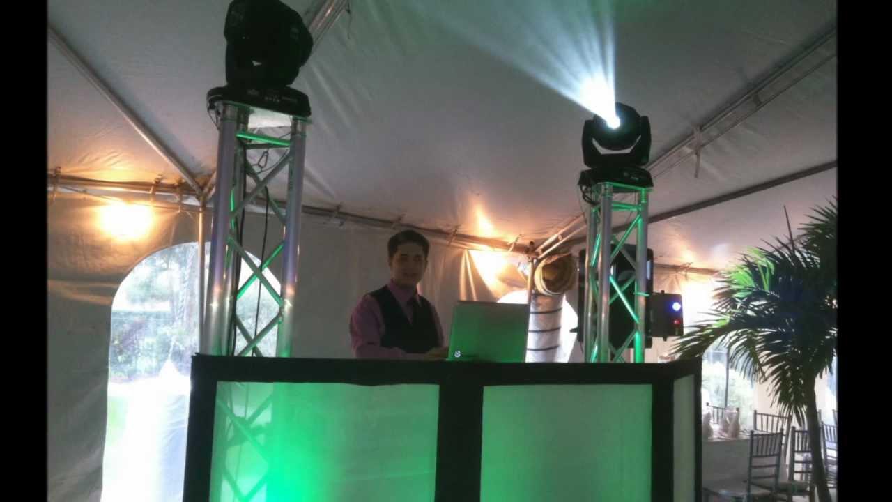 Wedding Setup Chauvet Intimidator Spot Led 350 And Truss Package Youtube