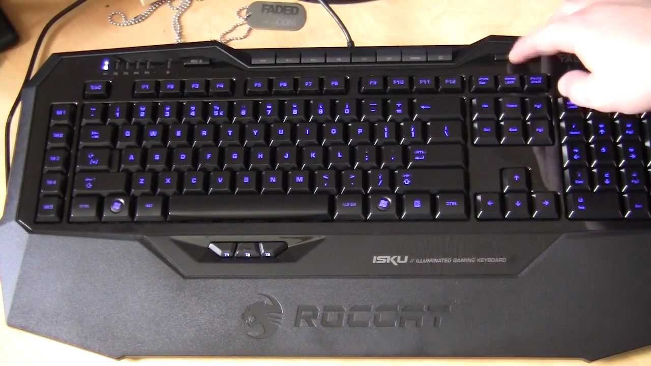 ROCCAT Isku Illuminated Gaming Keyboard Unboxing & Overview - YouTube