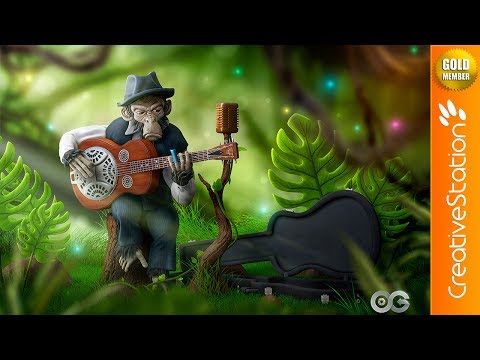 (B.B.) King of the Jungle - 3D Speed art (#Zbrush, #Photoshop) | CreativeStation GM