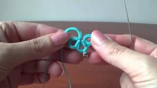 видео Вязаное колье с бусинами