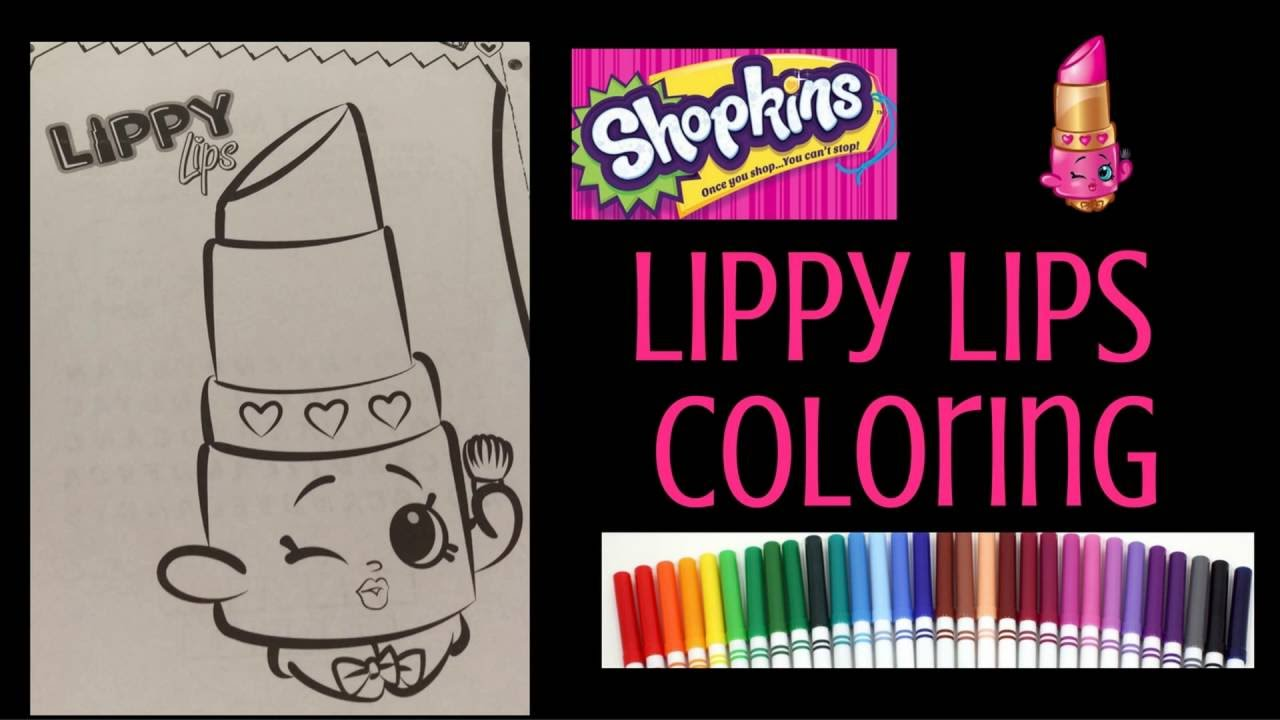 Shopkins Coloring for Kids Lippy