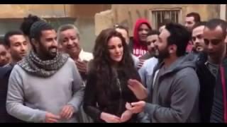 تامر حسني يحتفل بعيد ميلاد درة في تصوير فيلم تصبح علي خير