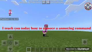MCPE How to remove a annoying command??