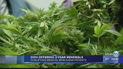 Medical Marijuana patients can renew certification cards for 2 years