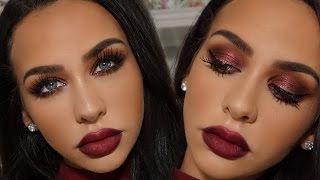 DARK CHERRY VALENTINE'S DAY MAKEUP TUTORIAL | Carli Bybel
