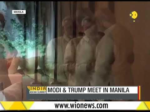 Indian PM Modi meets Donald Trump in Manila