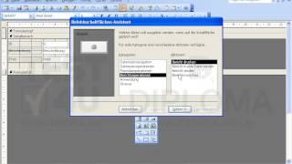 Fügen Sie eine Schaltfläche (Befehlsschaltfläche) mit dem Text Bericht in den Bereich Detail vom...