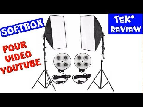 Softbox Kit 2 Spots Eclairage Pour Videos Studio Projecteur