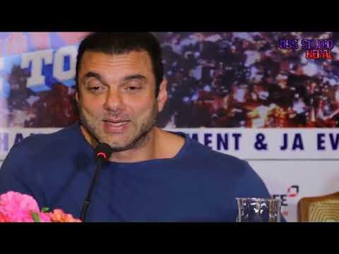 Sohil khan in Nepal-explains about Salman khan's Nepal Tour....
