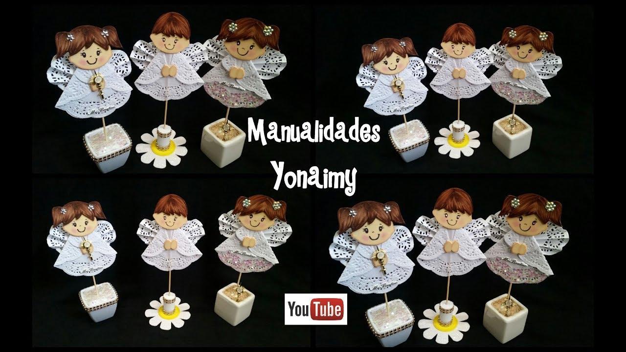 Angelitos para recuerdos de bautizo youtube - Trajes de angelitos para ninos ...