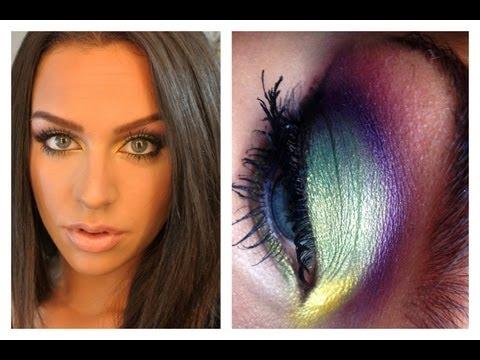 Rainbow Fall Makeup Look