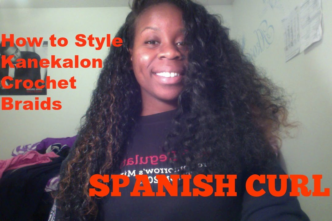 Spanish Curly Hair With Kanekalon Crochet Braids Youtube