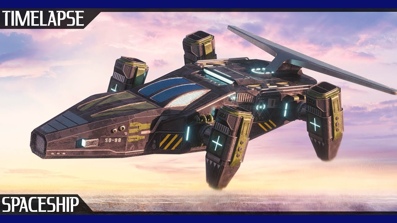 Spaceship Timelapse Fusion / Cinema 4D & Octane Render by Stijn Orlans