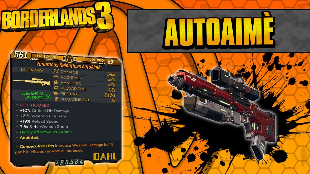 Borderlands 3 AutoAime Legendary Weapon Guide The Sniper That Aims For You! thumbnail