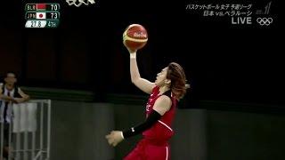 【劇的勝利】女子バスケ 日本 vs ベラルーシ 残り時間4分から リオオリンピック