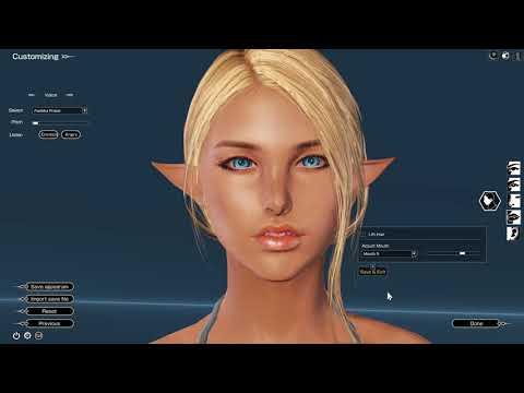 Bless Online - Charakter ändern mit dem Shopitem und Kampf mit den Brüsten