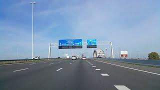 Dashcam Beelden Vianen: A2  Knooppunt Everdingen ----»Lekbrug Vianen ----»Knooppunt Oudenrijn»A12.