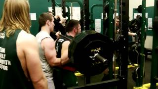 Chet Privett Wayne State Football Fullback Squats 455 for reps