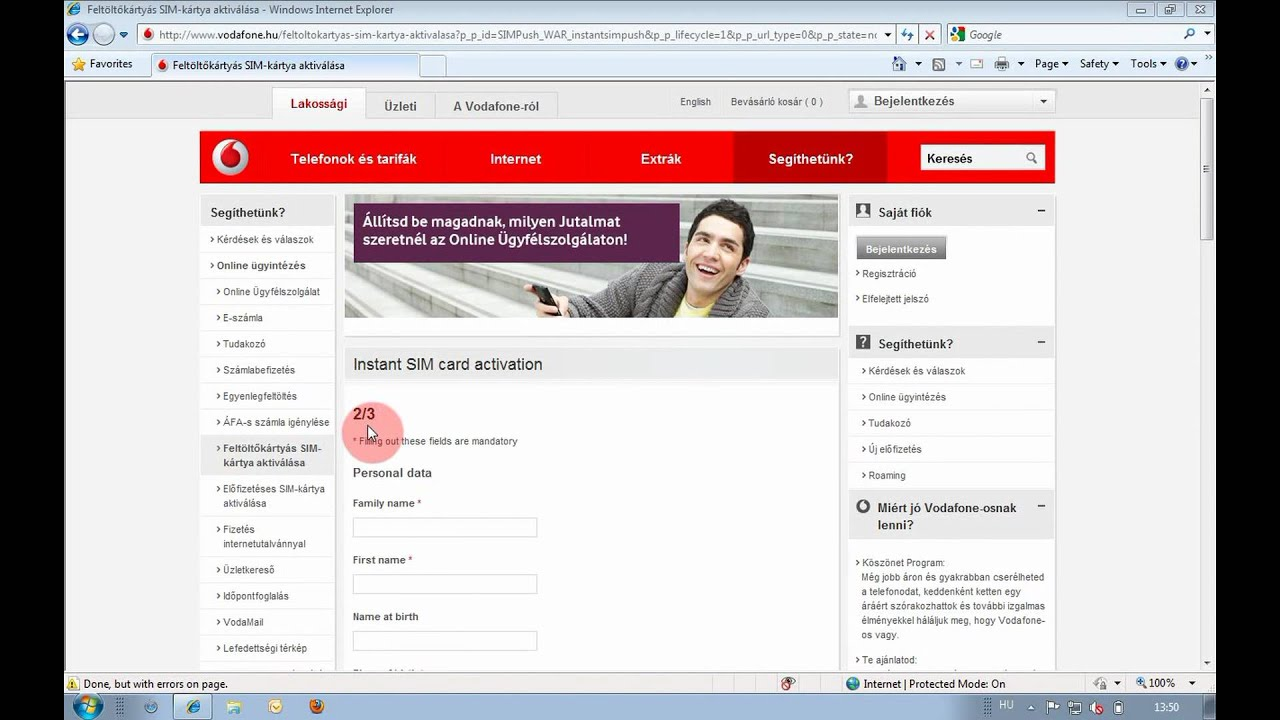 Support video - Online prepaid SIM card activation (INSTANT)