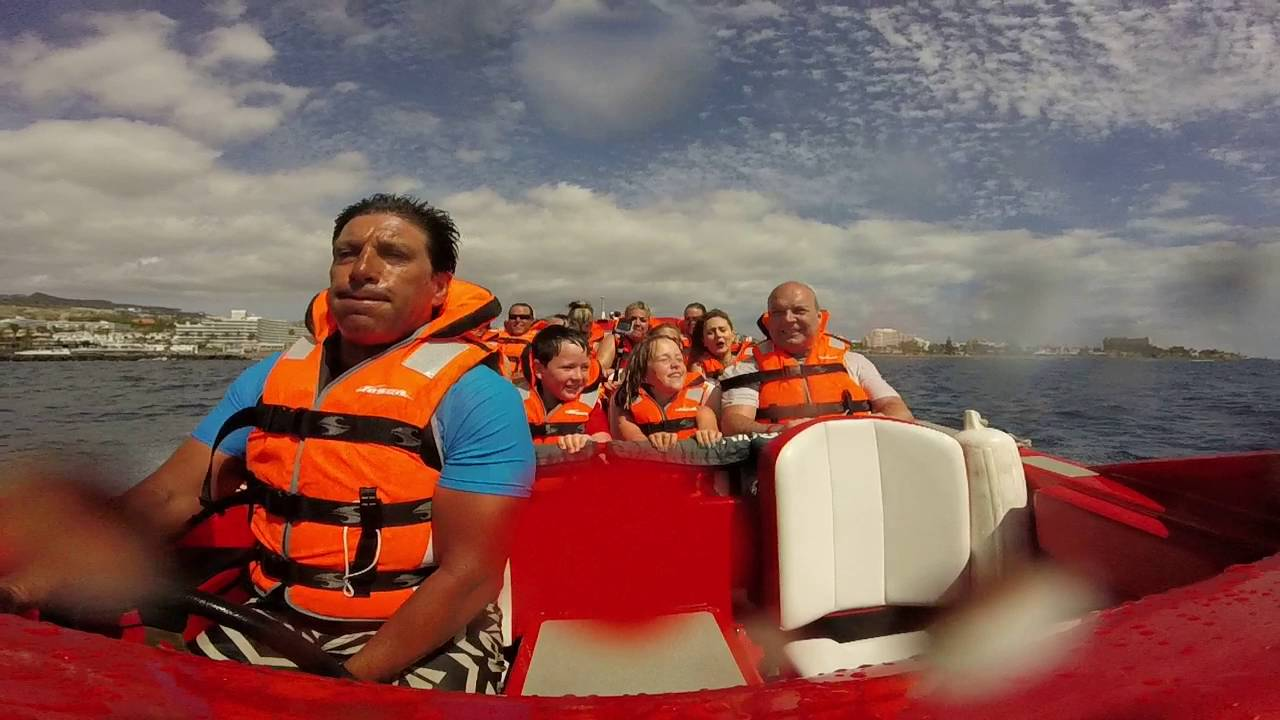 big red jet boat tenerife youtube
