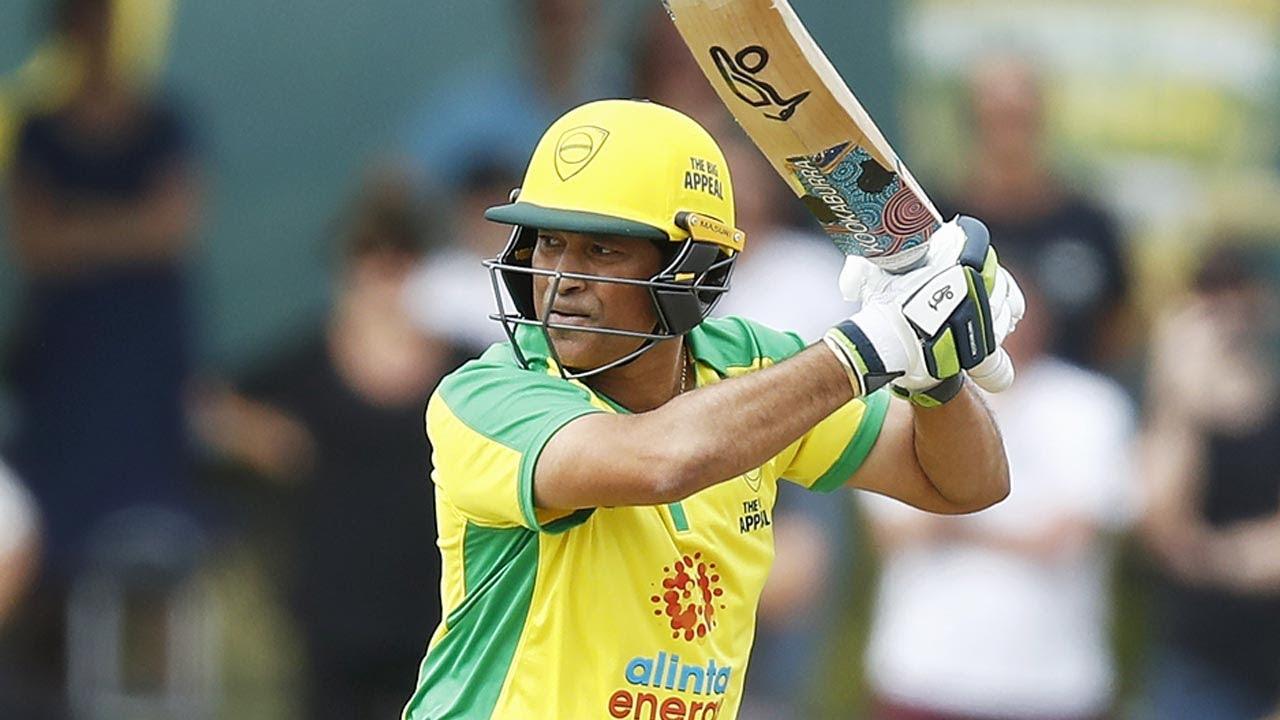 Download The Little Master's back! Tendulkar pulls on the pads one more time   Bushfire Cricket Bash