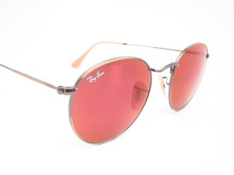 Ray-Ban RB 3447 Round Metal 167/2K Mirrored Sunglasses