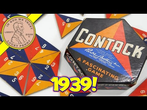 1939 Contack Parker Brothers Tile Game