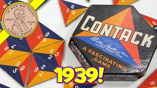 1939 Contack Parker Brothers Fascinating Tile Game - Vintage Board Game