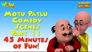 Motu Patlu Comedy Scenes - Compilation Part 11 - 45 Minutes of Fun! As seen on Nickelodeon