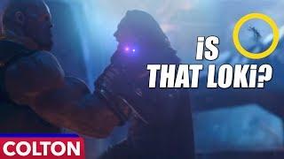 Is Loki watching himself be choked in Avengers Infinity War?