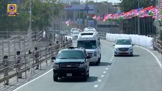 US President Donald Trump Leaving for Agra from Motera Stadium in Ahmadabad
