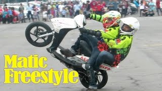"""Freestyle Motor Matic """"YAMAHA MIO"""" LINCAH BANGET (Atraksi Motor Indonesia)"""