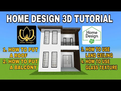 Home Design 3d Tutorial How To Put A Flat Roof A Balcony Glass Texture And Land Ceiling Youtube