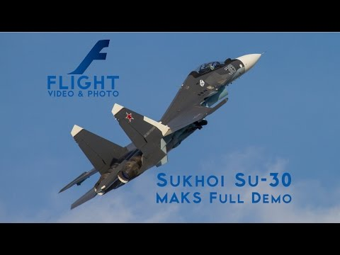 Sukhoi Su-30SM Flanker-C Supermaneuverable Multirole Fighter Aircraft of Russian Navy
