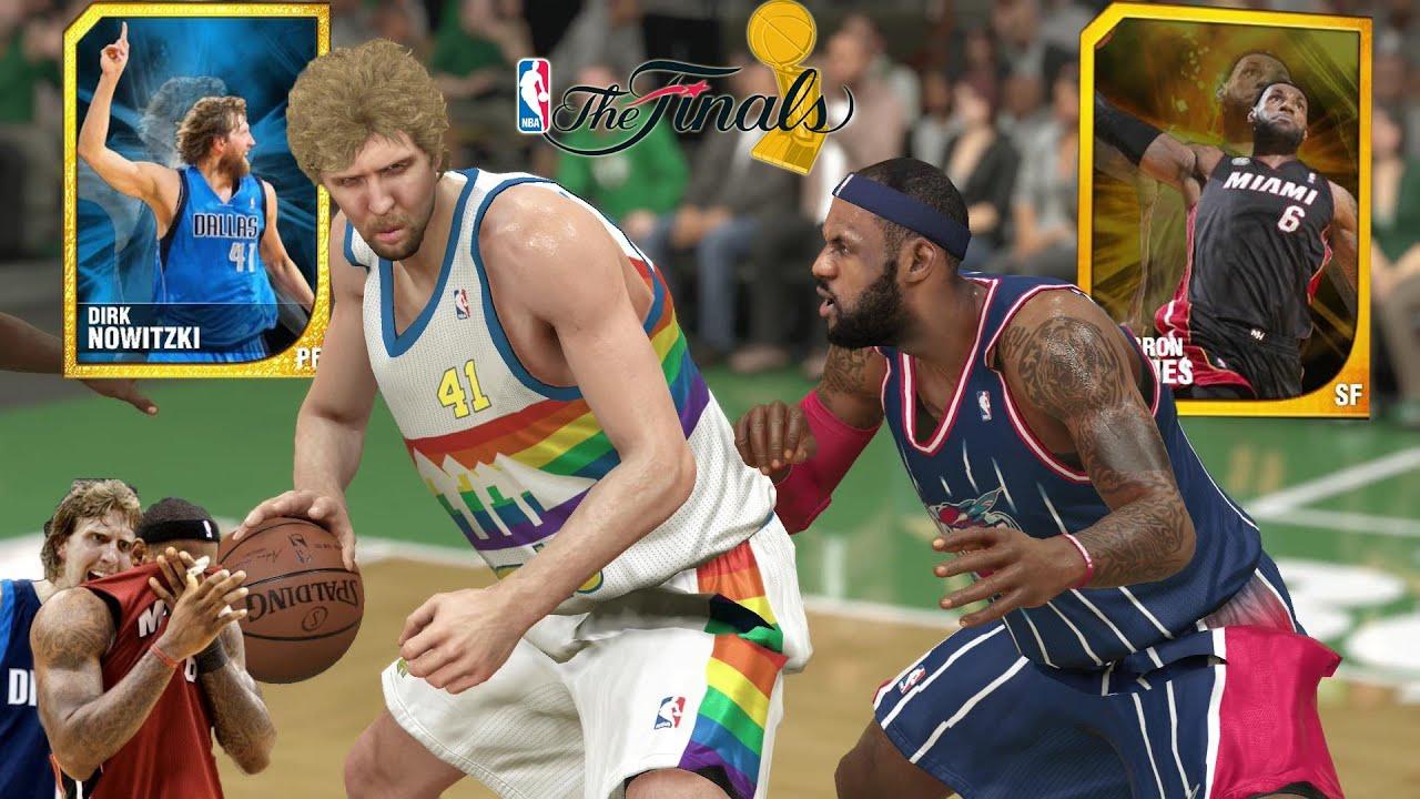 NBA 2k14 MyTeam | Dirk Nowitzki gives LeBron James a 2011 ...