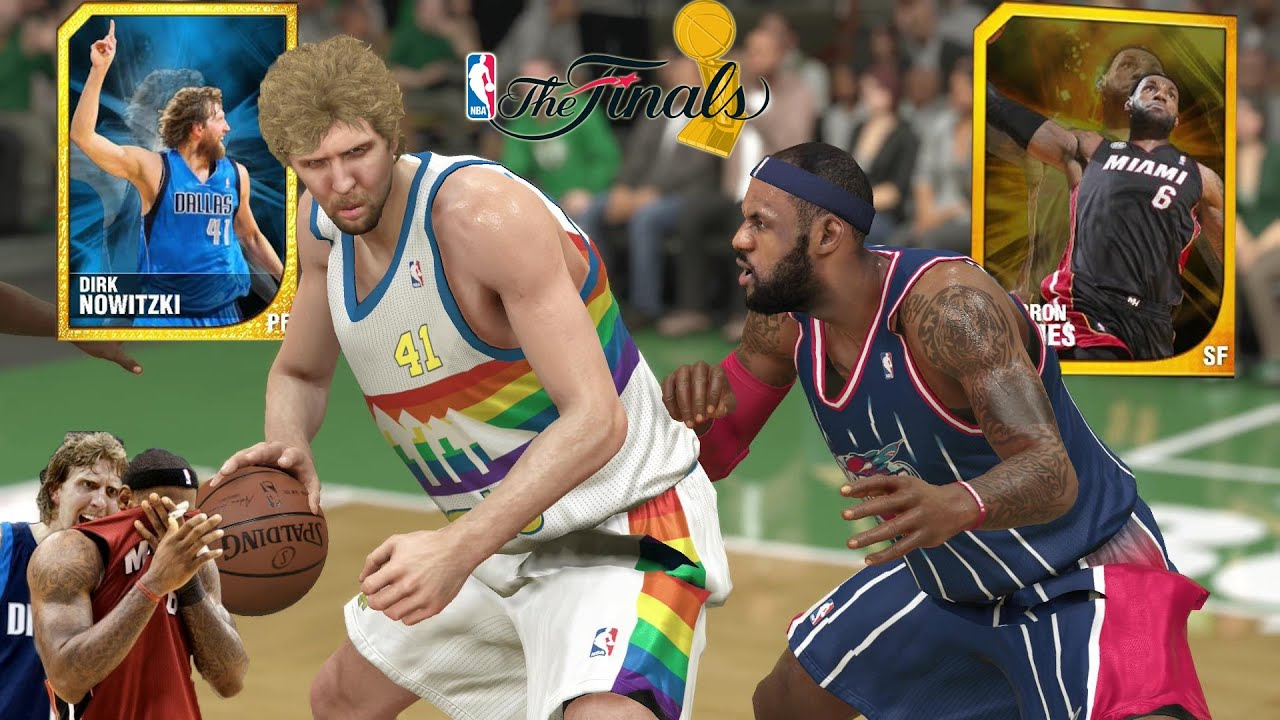 NBA 2k14 MyTeam | Dirk Nowitzki gives LeBron James a 2011 NBA Finals Flashback! - YouTube