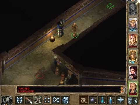 Let's Play Baldur's Gate 2 139 Athkatla Lower Crypts Southern Dungeon |