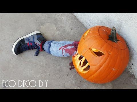 HALLOWEEN CALABAZA ASESINA / pumpkin ...te va a suuuper encantar la idea!!!