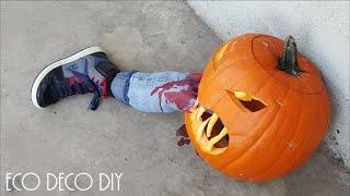 HALLOWEEN CALABAZA ASESINA / pumpkin ...te va a suuuper encantar la idea!!! thumbnail
