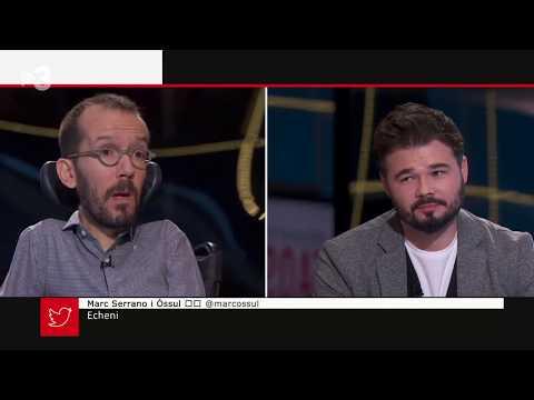 Pablo Echenique Gabriel Rufián PREGUNTES FREQÜENTS TV3 CATALUNYA