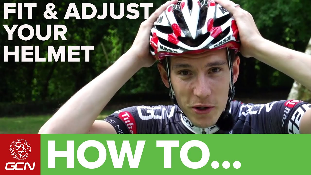 How To Fit Amp Adjust A Cycle Helmet Youtube