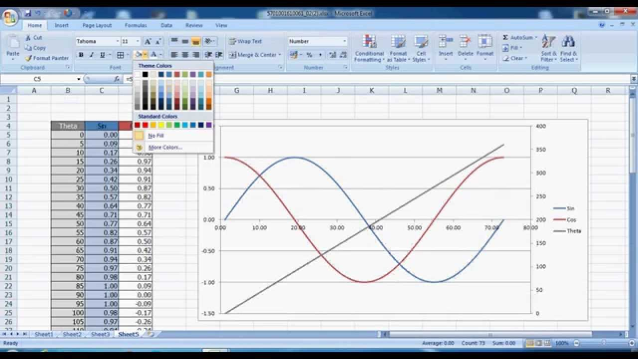 make graph in excel