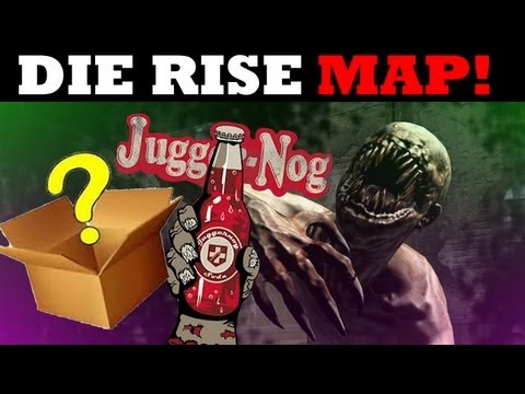 Revolution DLC- DIE RISE ZOMBIES Map Walkthrough MYSTERY BOX Jugger Nog Locations [HD]