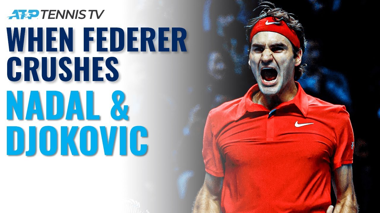 Four Times Federer Crushed Nadal & Djokovic 😳
